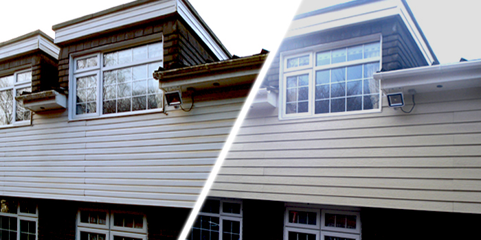 before and after PVCu cladding