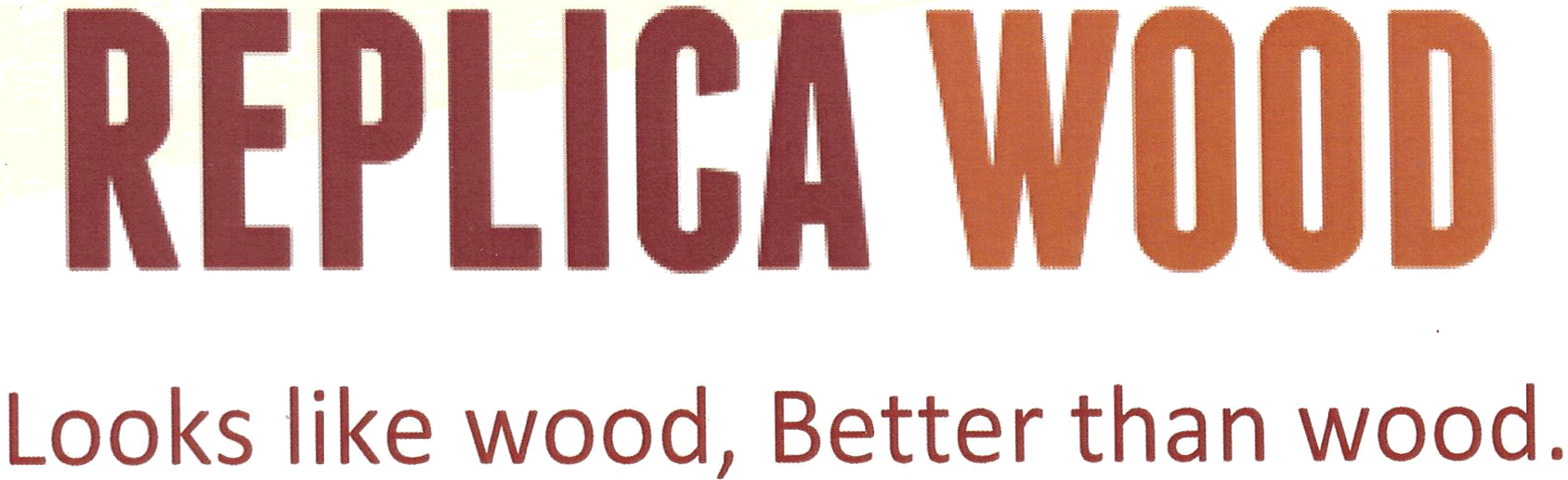 replica wood logo